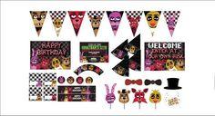 5 Nights at Freddy's Birthday Mega Pack от PapierasPrintables Happy 12th Birthday, 8th Birthday, Birthday Parties, Birthday Ideas, Mega Pack, Five Nights At Freddy's, Fnaf, Invitations, Holiday Decor