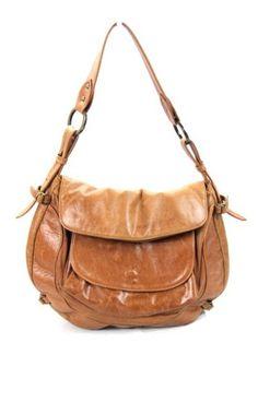 RARE Authentic Jisu Brown Distressed Leather Saddle Bag Purse Tote | eBay