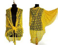 Yellow   Poncho Kaftan Dress Caftan Midi by angelofanatolia