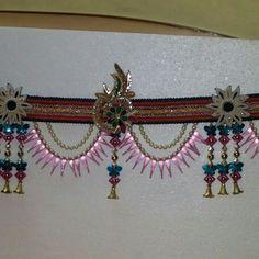 #bandhanwar#creative#handmade#door hanging#decor #customise#pink n blue#