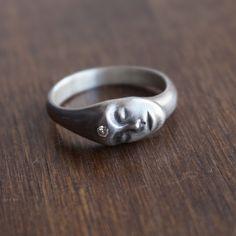 Hannah Blount Medium Grey Lady Ring with Diamond – Meeka Fine Jewelry