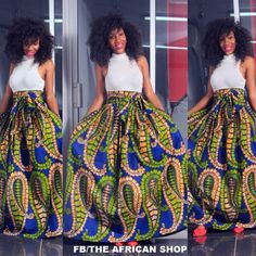 I want this!!! NEW Hajai Skirt with bow tie by THEAFRICANSHOP on Etsy, £45.00
