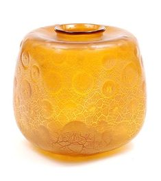 Botterweg Auctions Amsterdam Amber glass Serica vase with crackle design A.Copier executed by Glasfabriek Leerdam / the Netherlands Modern Glass, Amber Glass, Netherlands, Art Decor, Glass Art, Perfume Bottles, House, Ideas, Design