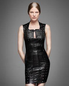 Jitrois SS 2013 black studded dress