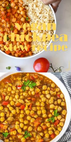 Tasty Vegetarian Recipes, Healthy Recipes, Vegan Meals, Wine Recipes, Whole Food Recipes, Cooking Recipes, Chickpea Stew, Star Food, Food Allergies