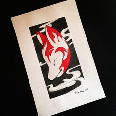 Japanese mask #kitsunemask #illustration