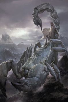 The Stunning Fantasy Artwork of Xiaodi Jin Fantasy Beasts, Sci Fi Fantasy, Fantasy World, Dark Fantasy, Fantasy Monster, Monster Art, Mythological Creatures, Mythical Creatures, Fantasy Artwork