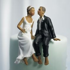 This Whimsical Sitting Bride & Groom Cake Topper shows a relaxed, barefoot couple leaning in for a kiss! This wedding cake topper is sure to make your guests smile. Whimsical Wedding Cakes, Funny Wedding Cake Toppers, Bride And Groom Cake Toppers, Wedding Topper, Wedding Kiss, Wedding Groom, Wedding Couples, Bride Groom, Wedding Ideas