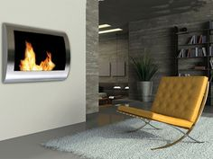 The Anywhere fireplaces are ventless, requiring no construction, chimney, or gas lines. Using Bio-ethanol fuel burns clean and without soot, smoke or ashes. The high style and design allows the ambiance of a fireplace to be enjoyed in any space and with certain styles designed for indoor and outdoor use.  Price:  45.00 to 350.00