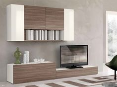 Modern Living Room with Carpet, Ikea Besta Tv Storage Combination, interior wallpaper, High ceiling