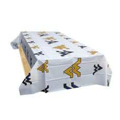 West Virginia Mountaineers NCAA Twin Pack Table Covers (2 Covers)