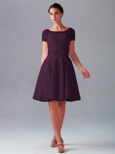Pin to Win a Wedding Gown or 5 Bridesmaid Dresses! Simply pin your favorite dresses on www.forherandforhim.com to join the contest!   Short Sleeved Knee Length Dress $229.99