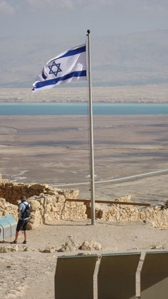 The Dead Sea view from Masada, ISRAEL.