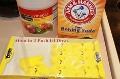The Baking Soda & Vinegar Peep Experiment ~ Fun Easter Experiment