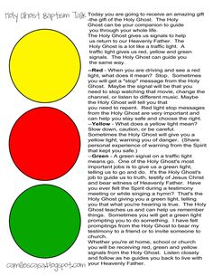 Holy Ghost Traffic Light talk