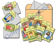 Holy Ghost: LDS Lesson Activity: Invite the Holy Ghost - Invitations, Primary Sharing Time, family home evening, gospelgrabbag.com