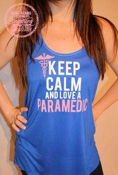 Keep Calm & Love Your Paramedic Tank - Bangarang Clothing Co.