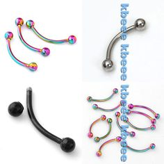 """16g 1//4/"""" Acrylic Barbell Tragus Cartilage Labret Ear 3.2 MM Dice 1 or 2 PCS RW"""