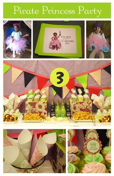 Pirate Princess Party ~ What an ADORABLE idea if you have boy/girl twins!!