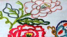 Bordado de Contorno Flor rosa de Castilla