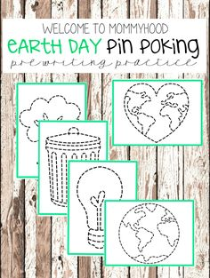 Montessori Activities: Earth Day Pin Punching by Welcome to Mommyhood #montessori, #earthday, #montessoriactivities