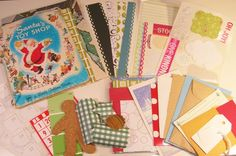 December Journal Kit - Great idea - use vintage Xmas book as cover. I'm gonna do this!