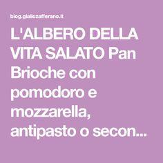 L'ALBERO DELLA VITA SALATO Pan Brioche con pomodoro e mozzarella, antipasto o secondo, scenografico, super soffice oltre che semplice.
