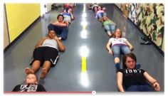 big groups games- pass the banana with your feet