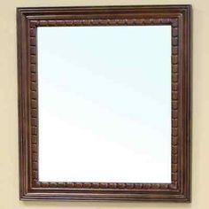 Bellaterra Home 203045-MIRROR Solid Wood Frame Mirror  Walnut