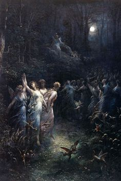 View Midsummer nights dream by Gustave Doré on artnet. Browse upcoming and past auction lots by Gustave Doré. Art And Illustration, Gustave Dore, Fantasy Kunst, Fantasy Art, Renaissance Kunst, Arte Obscura, Midsummer Nights Dream, Classical Art, Fine Art