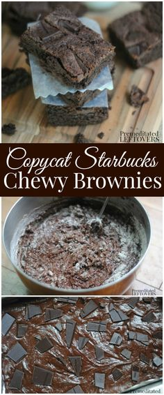 Copycat Starbucks Chewy Brownie Recipe- Are you in love with the chewy brownies from Starbucks? This copycat recipe is just as enjoyable as the real thing!