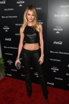 Pin for Later: No Red Carpet Was Safe From the Crop Top This Summer Candice Swanepoel at Maxim's Hot 100 Party