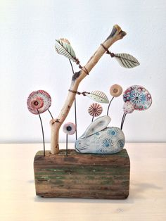 Diy Clay, Clay Crafts, Diy And Crafts, Arts And Crafts, Deco Nature, Scandinavian Art, Paperclay, Driftwood Art, Air Dry Clay