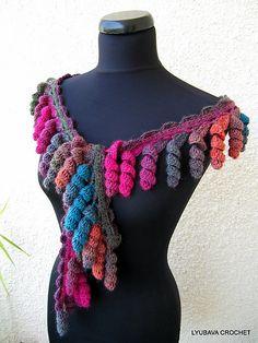 Multicolor Curly Tassel Lariat Scarf