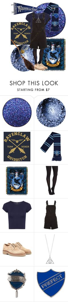 """Ravenclaw Pride"" by hazzaparvi ❤ liked on Polyvore featuring Warner Bros., Commando, WearAll, Maje, A.P.C. and Universal"