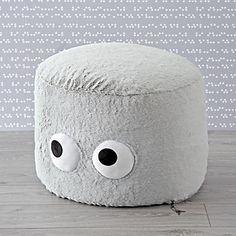 Furry Googly Eyes Pouf