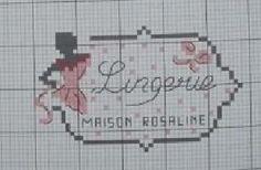 0 point de croix étiquette lingerie - cross stitch lingerie label