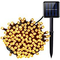 Amir Solar Powered LED String Lights, (200 LED 8 Modes) 72ft 22m, Ambiance Lighting, Solar Christmas Lights, Solar Fairy String Lights for Outdoor, Gardens, Homes, Christmas Party (Warm white)