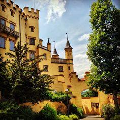 Schloss Hohenschwangau in Hohenschwangau, Bayern - 12th Century, King Ludwig's boyhood home