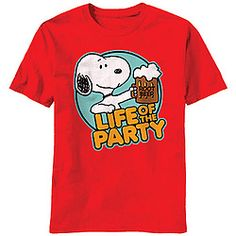 PEANUTS™ Snoopy Life Of The Party T-Shirt!