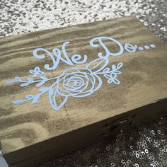 Mr & Mrs gold wooden wedding ring box for your ring bearer. 💍 Check out our other wedding decor items.
