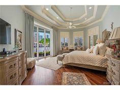 Coastal Blue Bedroom with Water Views in Park Shore, Naples, FL Coastal Bedrooms, Guest Bedrooms, Blue Bedrooms, Beautiful Bedrooms, Beautiful Homes, House Rooms, Bed Rooms, Dream Bedroom, Master Bedroom
