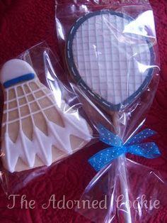The Adorned Cookie: Badminton Cookie Challenge! Cut Out Cookies, Cute Cookies, Cupcake Cookies, Sugar Cookies, Cupcakes, Badminton, Anniversary Dessert, Sports Themed Cakes, Best Cookies Ever
