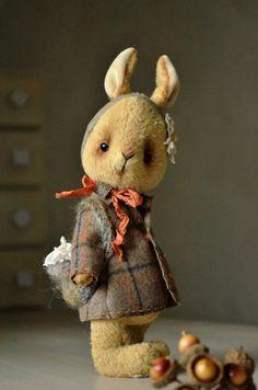 """Мишка Stile нравится вискоза Кролик девочка """"Натали"""" 10-дюймовый ручной коллекционные соединенных Мишка игрушка кролик"""