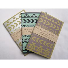 Screen printed Notebooks   © The Mountain & The Sea