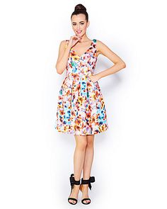 Flowerscape Scuba Dress from Betsey Johnson
