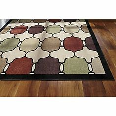 Hourglass indoor/outdoor rug | A splash of color for any room—indoors or out. this rug is soft, yet remarkably durable. www.countrydoor.com