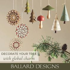 Add global charm to your Christmas tree with Christmas ornaments from Ballard Designs.