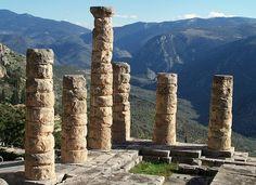 Temple of Apollo in Delphi, Greece