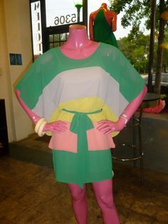 Colorblock dolman sleeve dress!